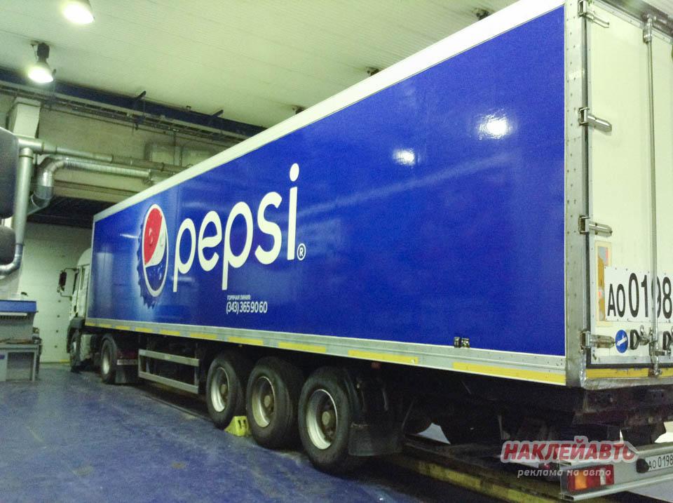 Оклейка фуры для компании PepsiCo
