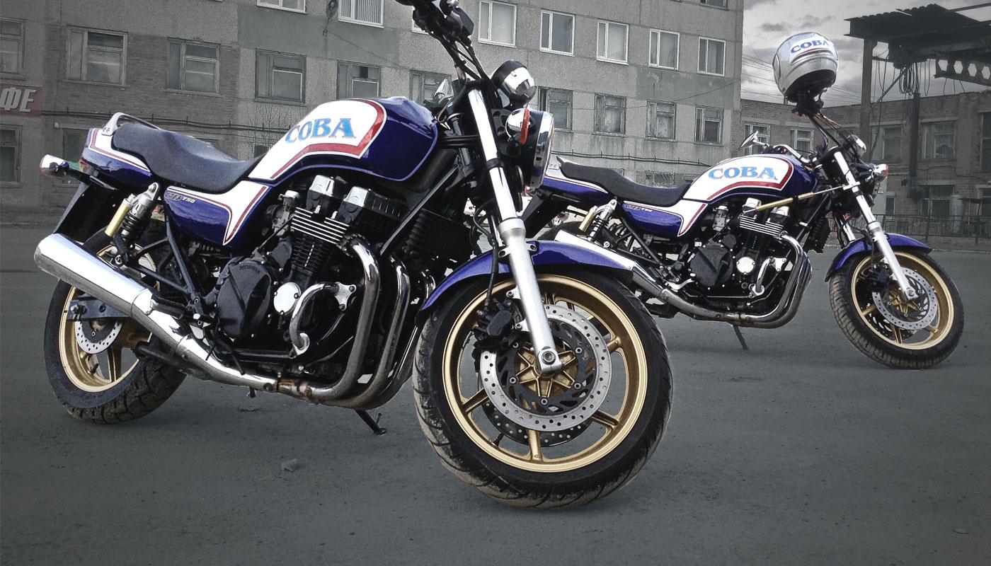 Оклейка мотоциклов и шлемов для СОВА